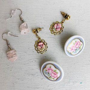 Pink Cottagecore Earring Bundle